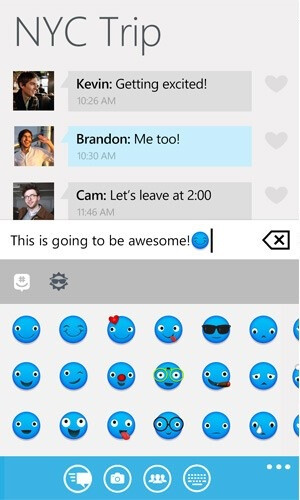 "GroupMe for Windows Phone updated joins the ""emoji"" crowd"