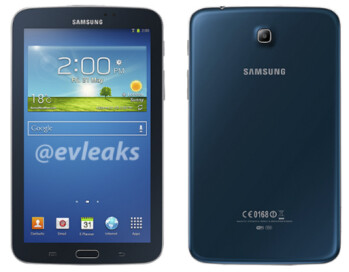 The Samsung Galaxy Tab 3 7 inches is coming in blue