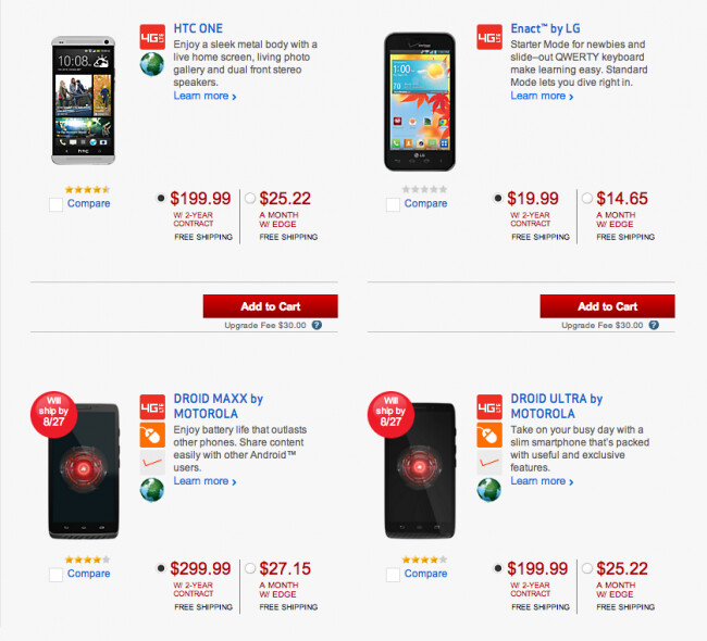 Verizon Edge is now an option for those upgrading to a new model - Verizon Edge is launched, allows customers to upgrade to a new phone more frequently