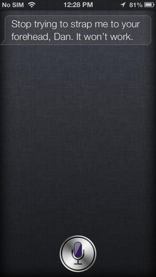 Apple's Siri does not like Google Glass