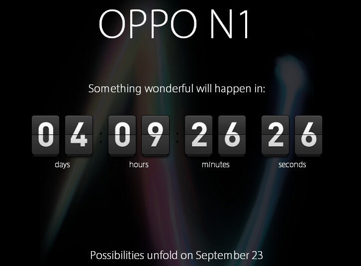 Oppo's website includes a timer counting down to the introduction of the Oppo N1 - Oppo's website shows timer counting down to introduction of the Oppo N1