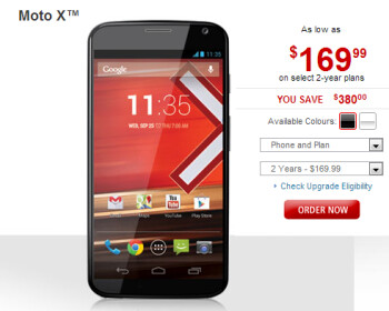 Rogers cuts the price of the Motorola Moto X by $20