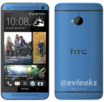 Leaked photo of the blue HTC One