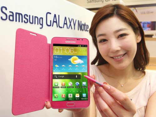 Galaxy Note III to come in... pink?