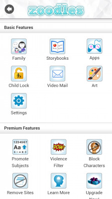 Screenshots from Zoodles Kids Mode app - Zoodles Kid Mode keeps Junior from being corrupted when using your HTC phone