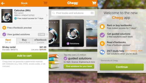 Chegg - Android, iOS - Free