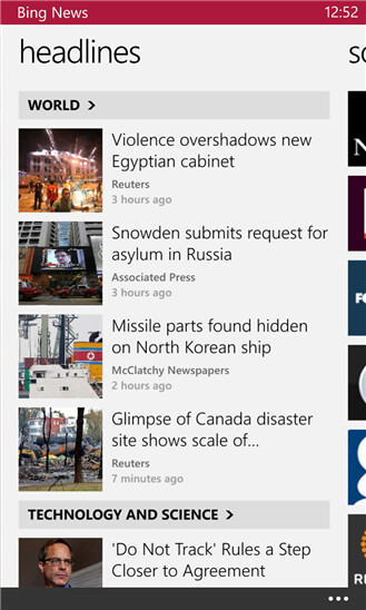 Bing News - Windows Phone - Free