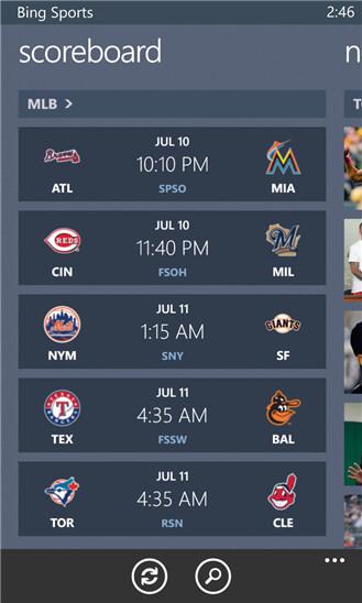 Bing Sports - Windows Phone - Free