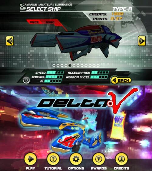 Delta-V Racing - Android, iOS - $0.99/$1.99