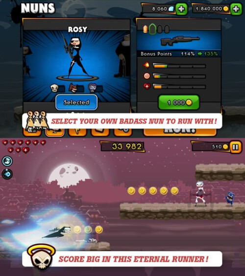 Nun Attack: Run & Gun - Android, iOS - Free