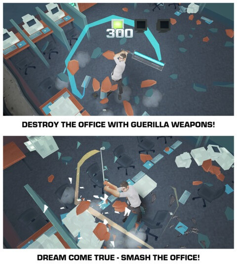 Smash The Office - Stress Fix! - Android, iOS - Free