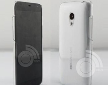Press shot of the Meizu MX3 (L) and a leaked image revealing a 128GB model
