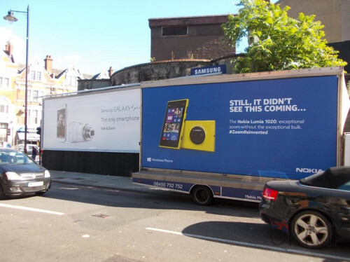 Nokia wrests control of a U.K. street corner from Samsung