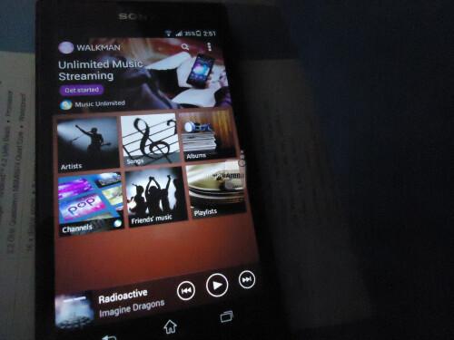 Spyshots of the Sony Xperia Z1