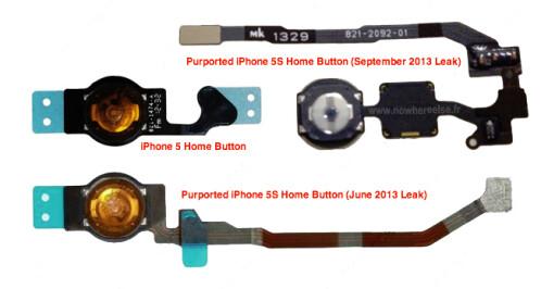 Leaked image of fingerprint scanner for Apple iPhone 5S