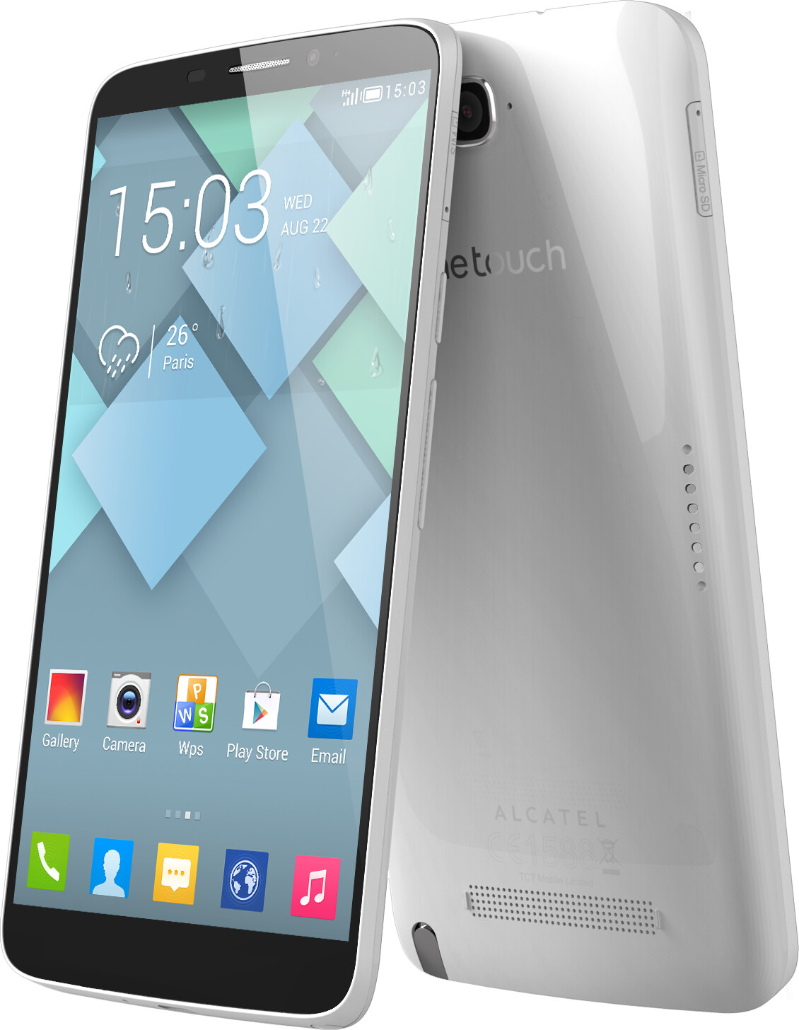 Alcatel One Touch Hero phablet goes full out: pico projector ...