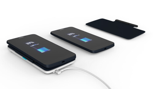 The MagicFlip cover doubles up as an inductive wireless charger