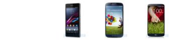 """Sony Xperia Z1 vs Samsung Galaxy S4 vs LG G2 specs comparison: 5"""" cage match"""