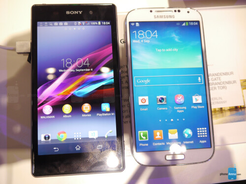 Sony Xperia Z1 vs Samsung Galaxy S4