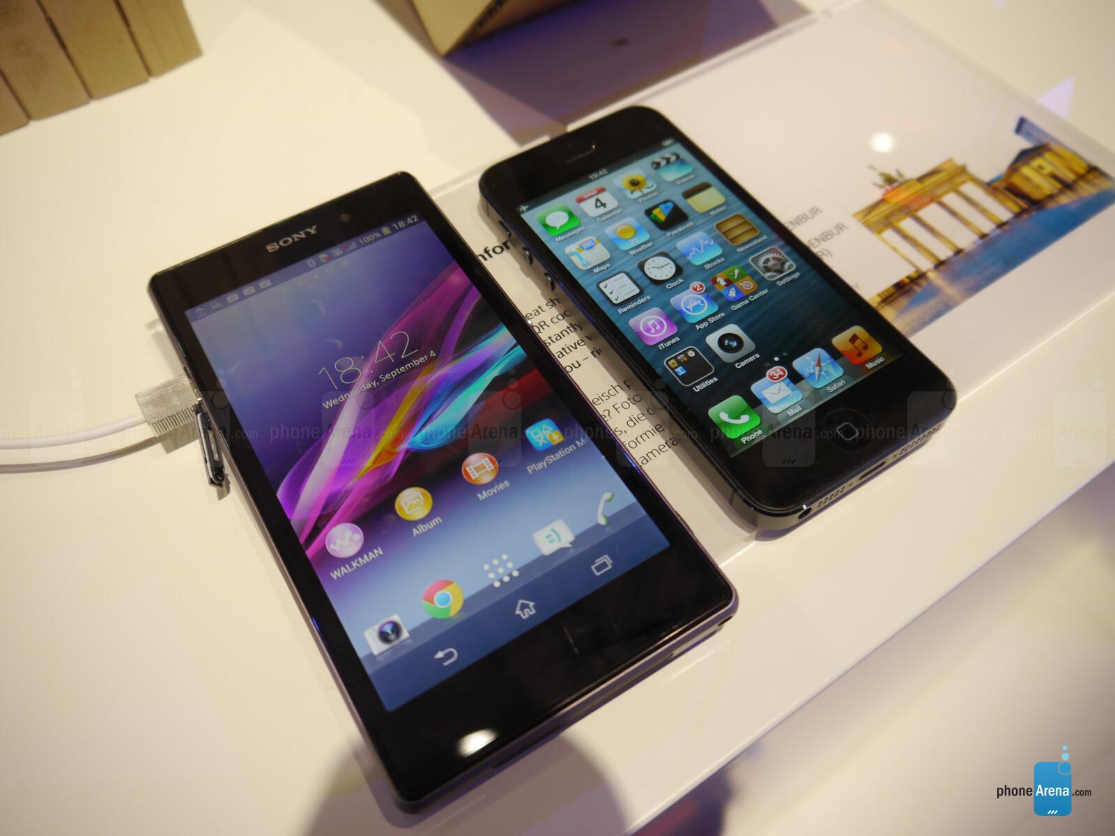 sony xperia vs iphone