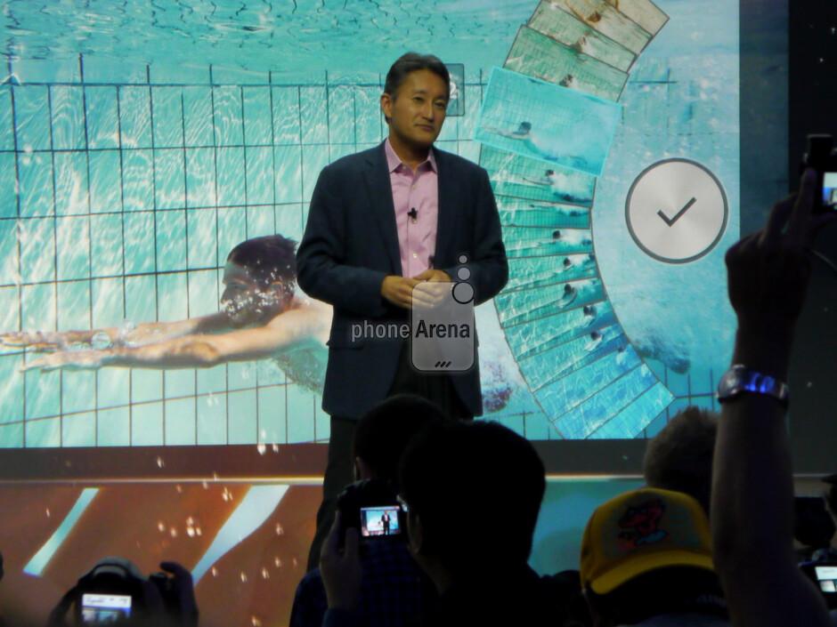 Sony CEO Kaz Hirai introduces the Xperia Z1. - Sony Xperia Z1 (Honami) hands-on