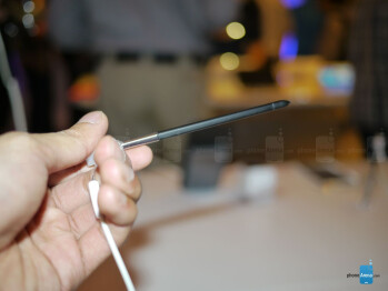 The new S-Pen with the Samsung Galaxy Note 3.