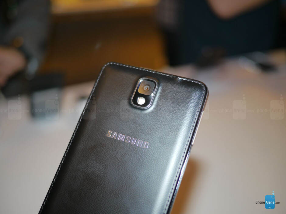 Same design, but it now has a new textured rear casing. - Samsung Galaxy Note 3 hands-on