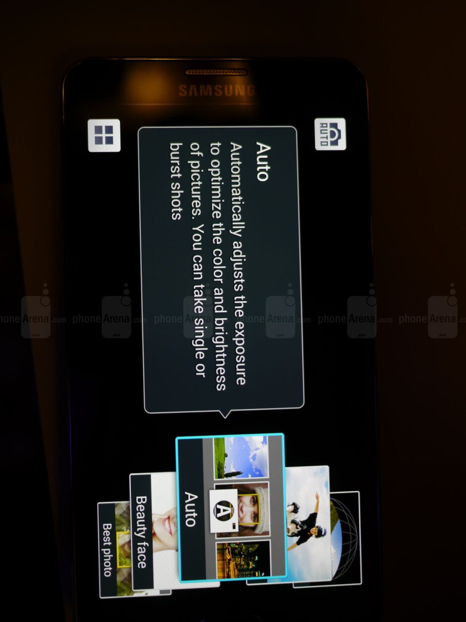 Camera app interface. - Samsung Galaxy Note 3 hands-on