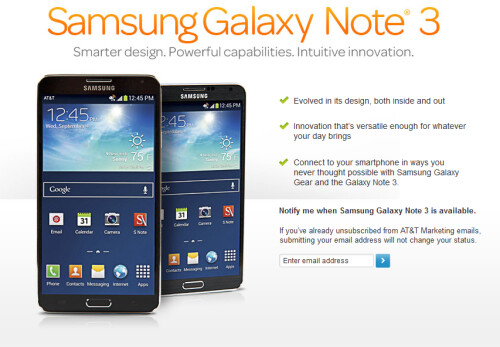 Verizon will accept pre-orders starting Friday for the Samsung Galaxy Note 3 and the Samsung Galaxy Gear