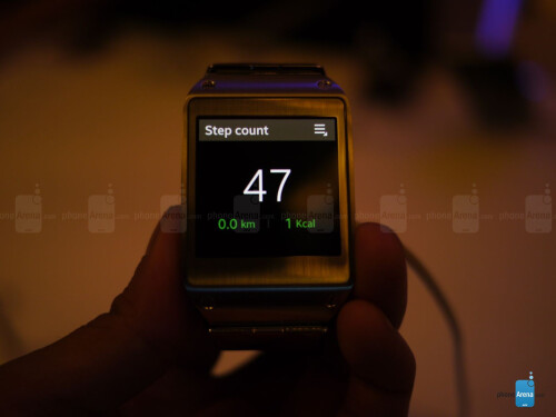 Samsung Galaxy Gear screenshots.