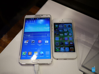 Samsung Galaxy Note 3 vs Apple iPhone 5