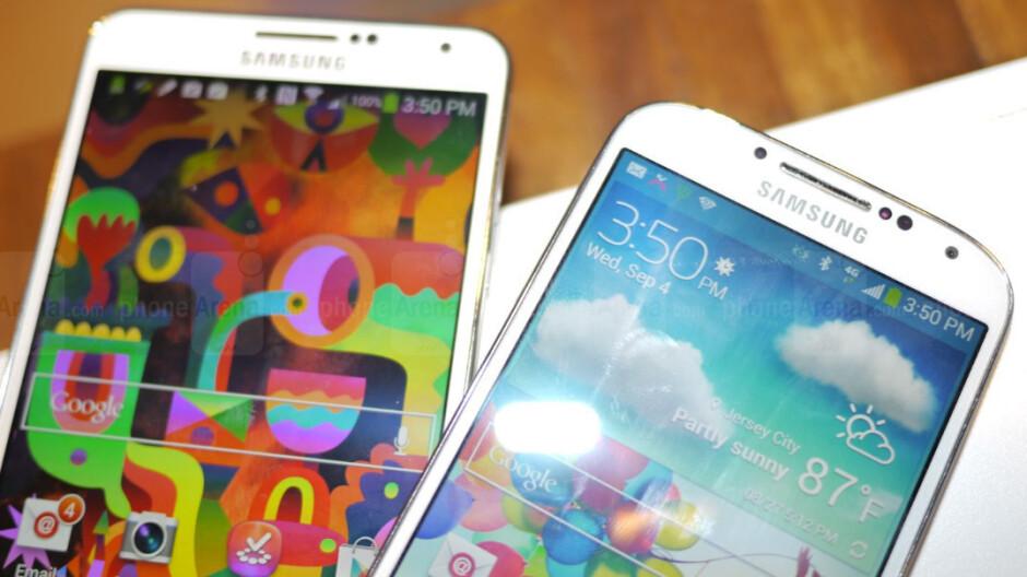 Samsung Galaxy Note 3 vs Samsung Galaxy S4: first look
