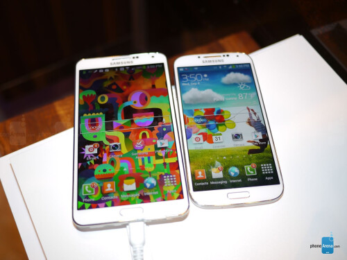 Samsung Galaxy Note 3 vs Samsung Galaxy S4: first look