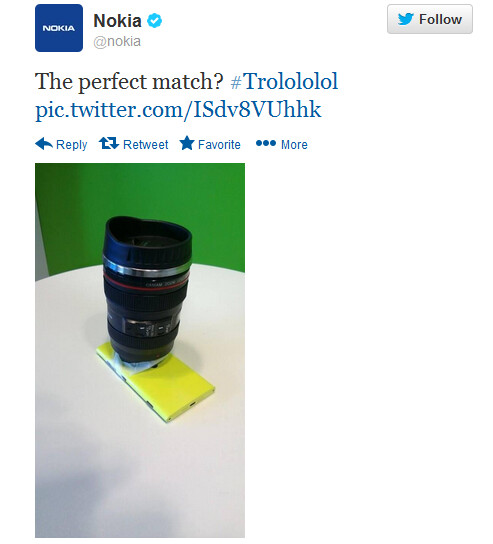Tweet from Nokia tickles the funny bone - Tweet from Nokia makes fun of Sony's new Lens-Style Cameras