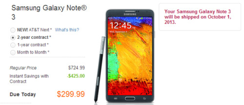 Samsung Galaxy Note 3 launch dates on AT&T and Verizon