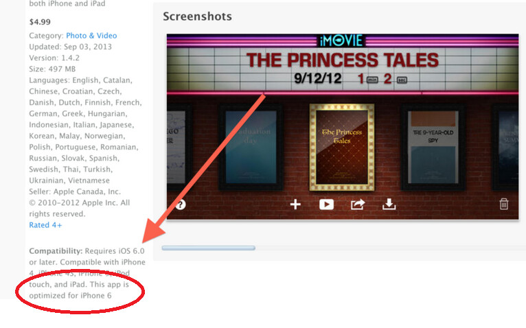 Apple's iMovie app is optimized for iPhone 6 - Are we going to see the Apple iPhone 6 on Tuesday?
