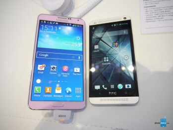 Samsung Galaxy Note 3 vs HTC One: first look