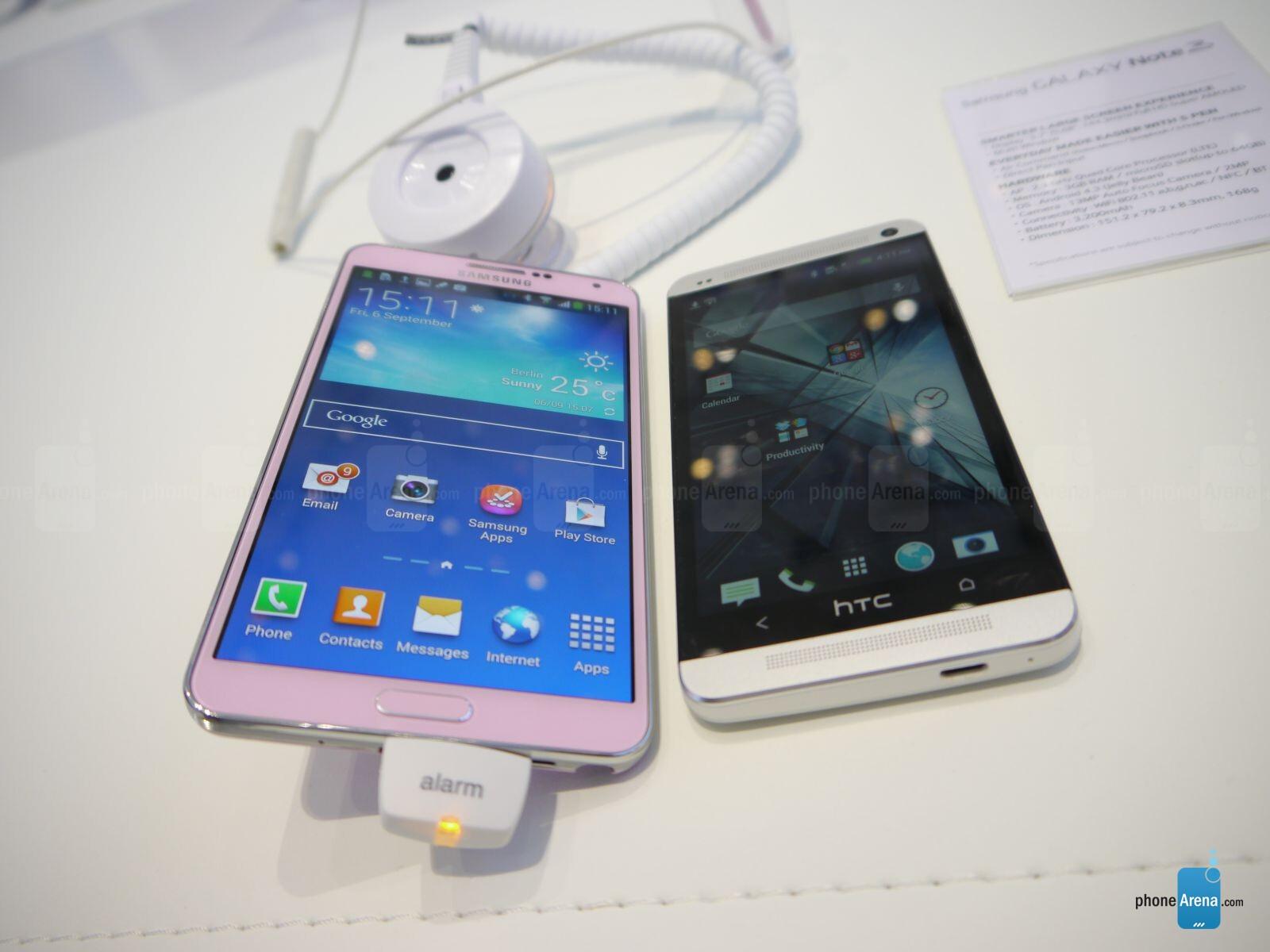 مقارنة شاملة بين Galaxy Note 3 و HTC One