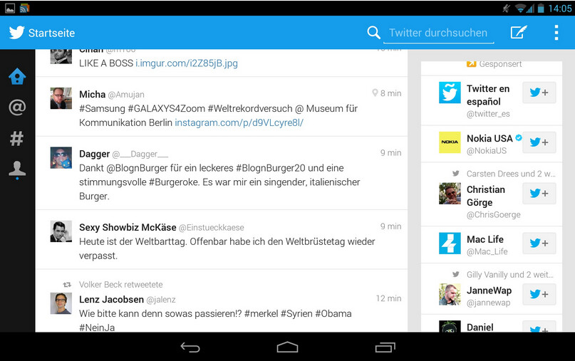 Twitter for Android tablets has leaked - Twitter app for Android tablets leaks out