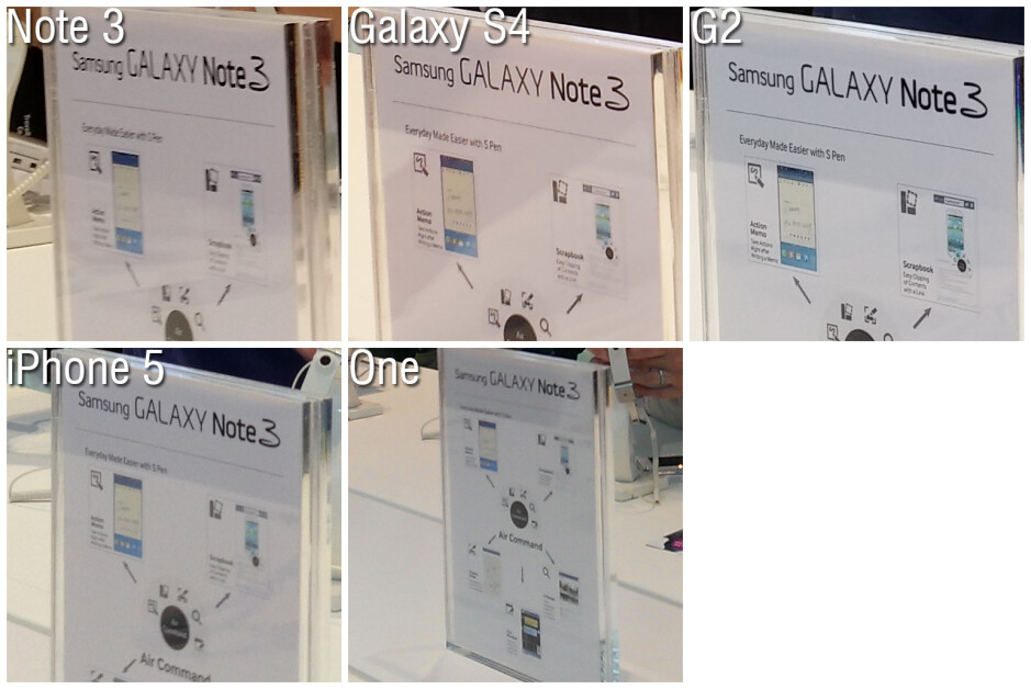 Camera shootout: Note 3 vs Galaxy S4 vs G2 vs iPhone 5 vs One