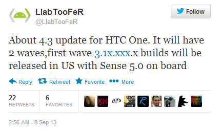 Android 4.3 with Sense 5.0 is heading for the HTC One in the U.S. - Android 4.3 coming to the HTC One in the U.S.