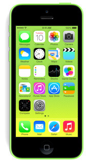 The iPhone 5C has a 4-inch screen and A6 processor