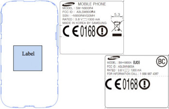 The Samsung Galaxy Note 3 for AT&T and for Sprint each visited the FCC