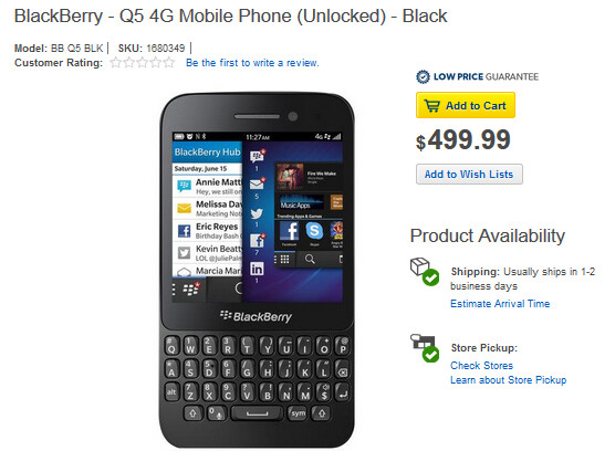 Unlocked BlackBerry Q5 now available online from Best Buy - Unlocked BlackBerry Q5 now available online from Best Buy
