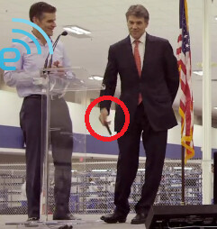Texas Governor Perry is about to toss his Apple iPhone