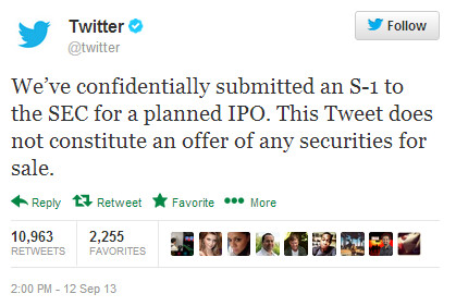 Twitter files for IPO, new UI coming