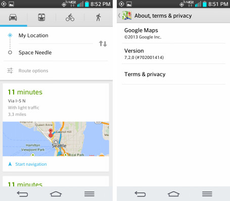 Update to Google Maps brings an overview of your recommended route with traffic highlights - Google Maps gets update with new features like hotel search