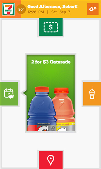 Seven-Eleven app for Windows Phone 8