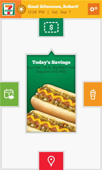 Seven-Eleven app for Windows Phone 8