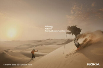 Nokia tweets an image about a media event for October 22nd